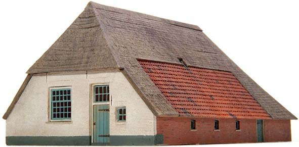 Bauernhof Los Hoes, 1:87, Bausatz aus Resin, unlackiert