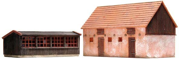 Chicken coop and pigsty, 1:87, resin kit, unpainted