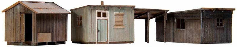 Garden sheds, 1:87, resin kit, unpainted