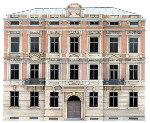 Fassade H, 1:87, Bausatz aus Resin, unlackiert