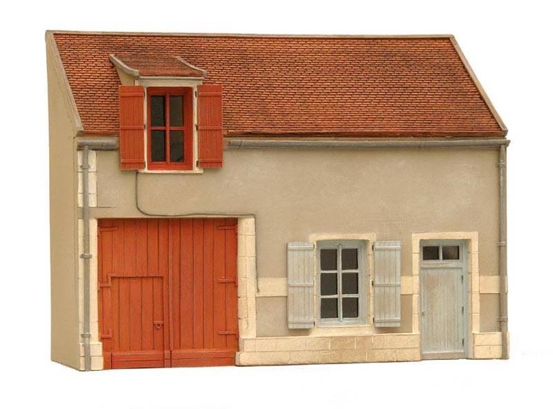 Fassade N Frankreich, 1:87, Bausatz aus Resin, unlackiert