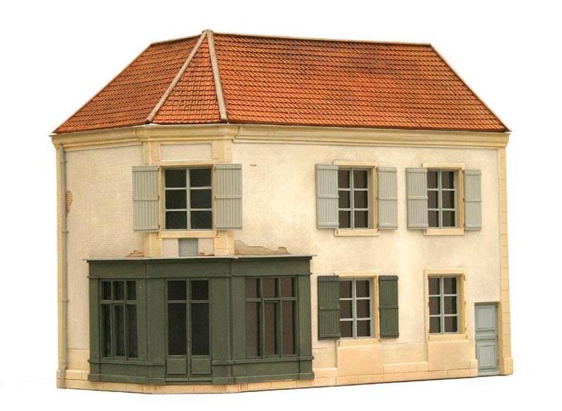 Fassade O Frankreich, 1:87, Bausatz aus Resin, unlackiert