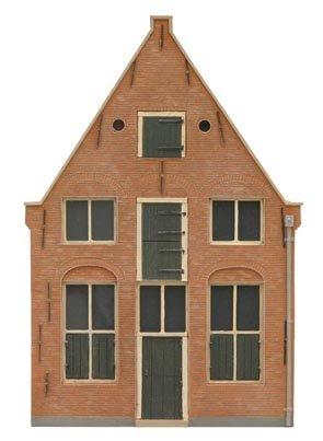 Gevel U Holland 17e eeuw, 1:87, bouwpakket uit resin, ongeverfd