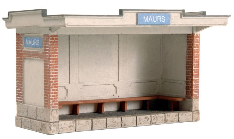 French waiting shelter, 1:87, resin kit, unpainted