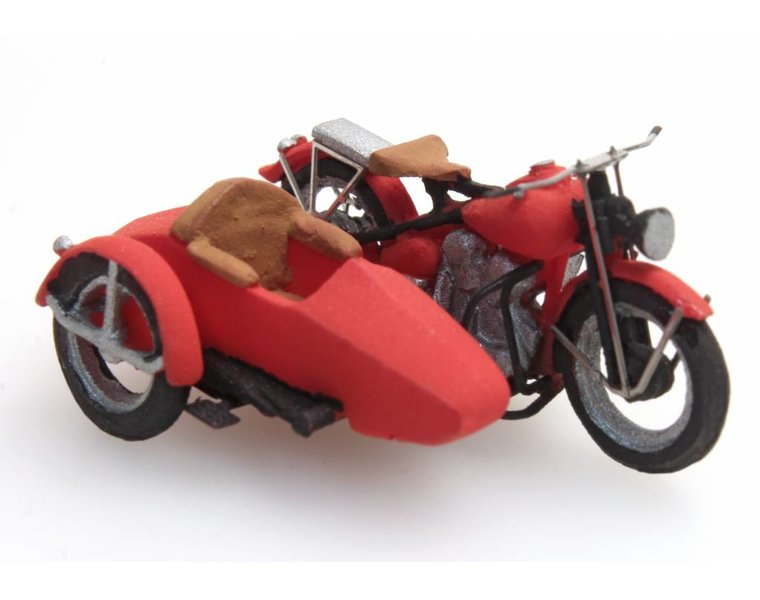 U.S. Motorcycle Liberator with sidecar
