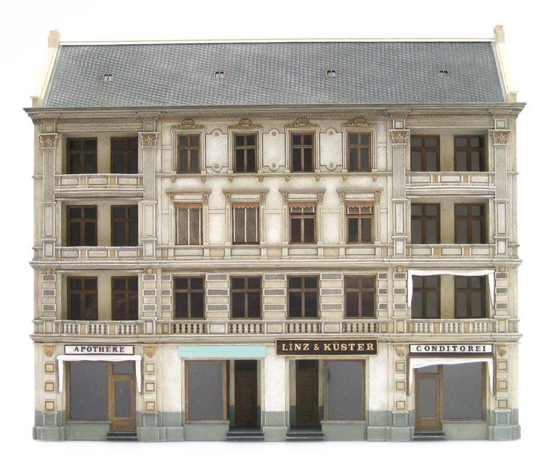 Facade of Linz & Küster store, 1:87, resin kit, unpainted