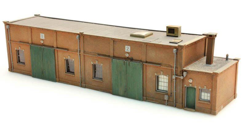 Baksteenloods halfmodel, 1:87, bouwpakket uit resin, ongeverfd