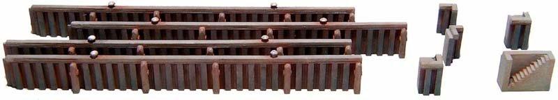 Kaimauer aus Spundwand, 1:160, Bausatz ausResin, unlackiert