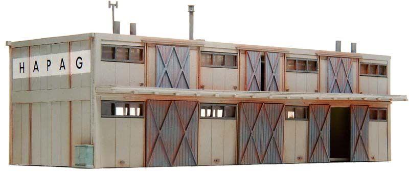 Lagergebäude 2 Stockwerke, 1:160, Bausatz ausResin, unlackiert