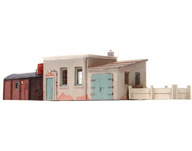 Utility buildings for railway workers 1:160