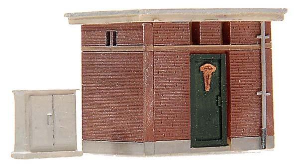 Elektriciteitshuisje, 1:160, bouwpakket uit resin, ongeverfd