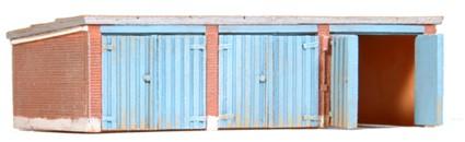 Garages, 1:160, bouwpakket uit resin, ongeverfd