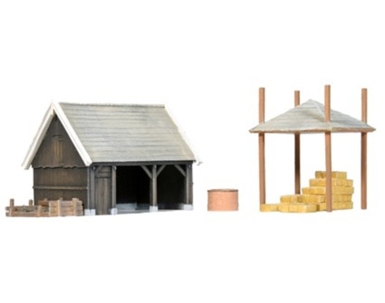 Shed and accessories 1:160