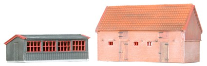 Chicken coop and pigsty, 1:160, resin kit, unpainted