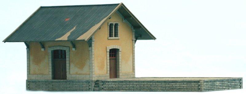 Französisches Lagergebäude, 1:160, Bausatz ausResin, unlackiert