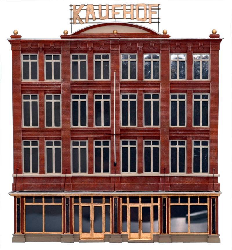 Fassade Kaufhof, 1:160, Bausatz ausResin, unlackiert