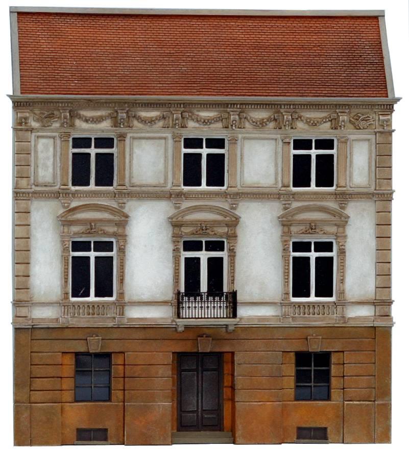 Gevel notariaat, 1:160, bouwpakket uit resin, ongeverfd