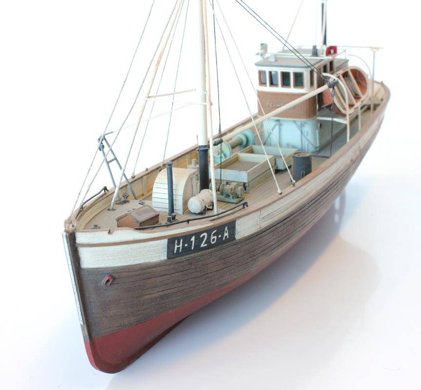 Noorse vissersboot Framtid I volromp - resin bouwpakket - 1:87
