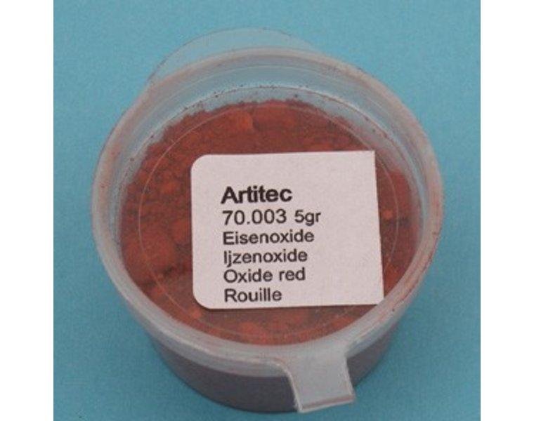 Pulver eisenoxidrot