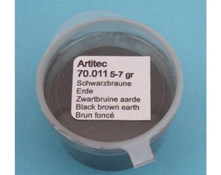 Pulver schwarzbraune Erde