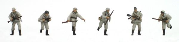Set 2 Infanterie Winter, 6 Figuren, 1:87, Bausatz aus Resin, unlackiert