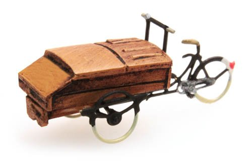 Carrier tricycle bakery, 1:160, resin ready made, painted