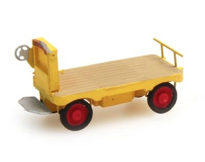 Electric platform truck yellow, 1:160, resin ready made, painted