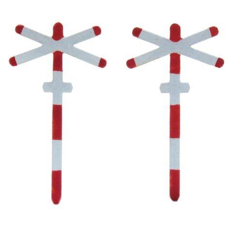 Andreaskruis enkel spoor, 2 stuks, 1:160, kant en klaar geëtst, geverfd
