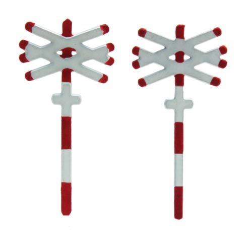 Andreaskreuz zweigleisig, 2 Stück, 1:160, Fertigmodell ausÄtzteilen, lackiert