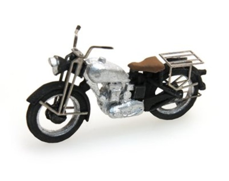 Triumph civilian motorcycle, silver