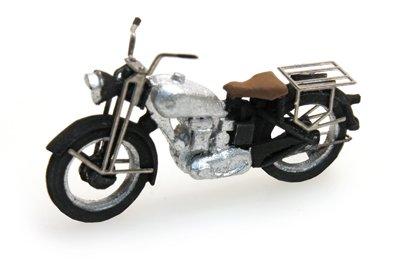 Motorrad Triumph zivil, silber, 1:87 Fertigmodell aus Resin, lackiert