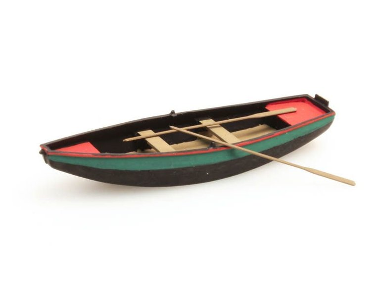 Steel rowboat green