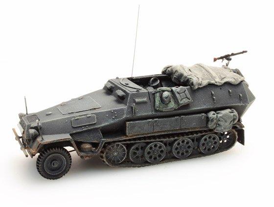 Sd.Kfz 251/2B, 8cm, Granatwerfer, grau, 1:87 Fertigmodell ausResin, lackiert