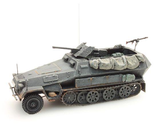 Sd. Kfz 251/10B 3.7 cm. PAK, grau, 1:87 Fertigmodell ausResin, lackiert