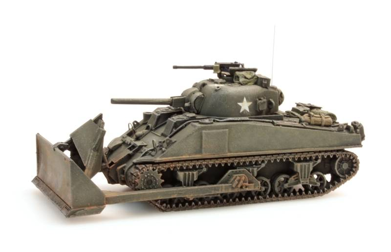 Sherman M4, dozer tank, UK / US