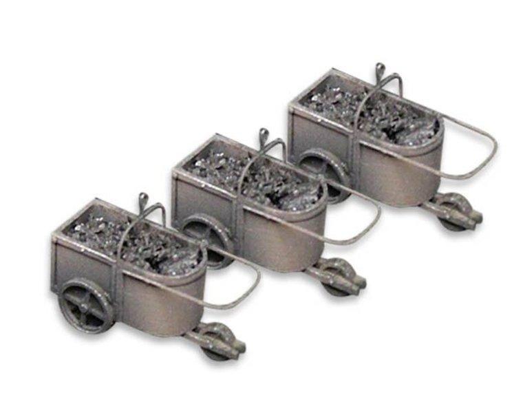 3 kolenkarren voor kolenkraan