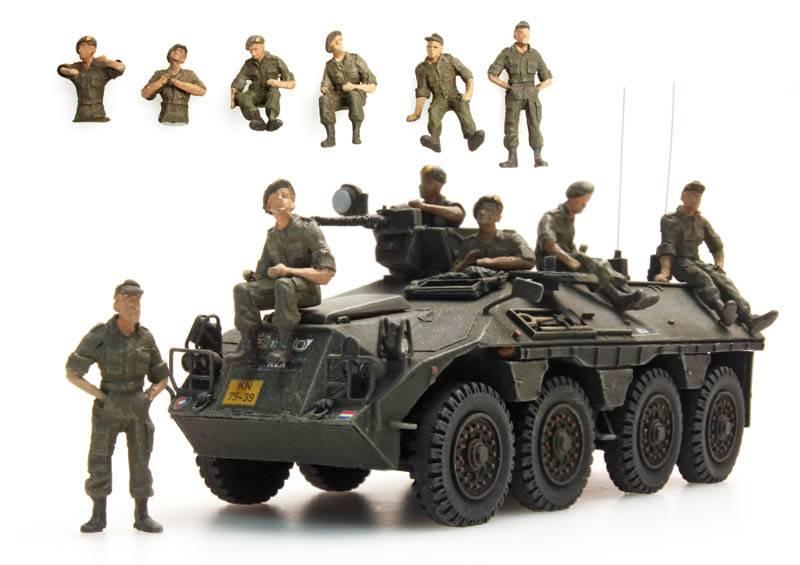 Ausruhende Mannschaften DAF YP-408, 6 Figuren