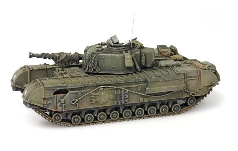 UK Churchill Tank mk VII, 1:87 Fertigmodell ausResin, lackiert