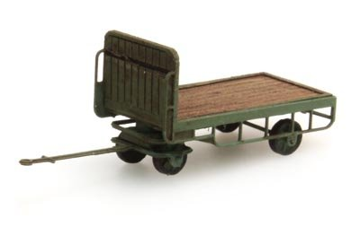 Anhänger für Bahnsteigkarre grün