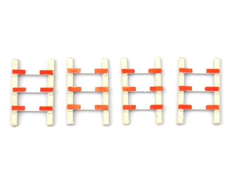 4 Zäune für Bahnübergang