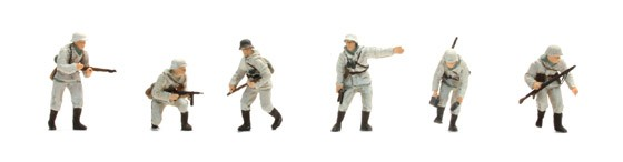 Set 1 Deutsche Infanterie, Winter (6 Figuren)
