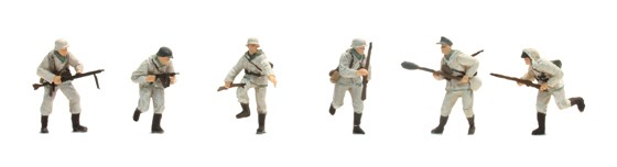 Set 2 Deutsche Infanterie, Winter (6 Figuren)