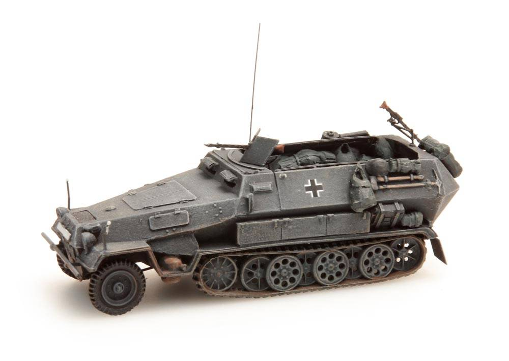 Sd.Kfz 251/1B, grau, 1:87 Fertigmodell ausResin, lackiert