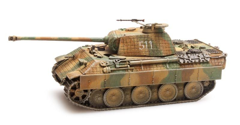 Panther Ausf A, Zimmerit, camo