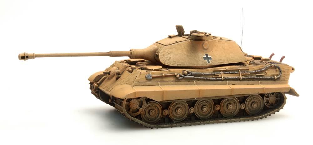 Tiger II Porsche, Zimmerit, dunkelgelb, 1:87 Fertigmodell