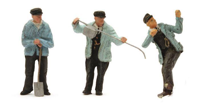 "Set mit 3 Figuren Dampflokpersonal ""Jacob Olie"", 1:87 Fertigmodell"
