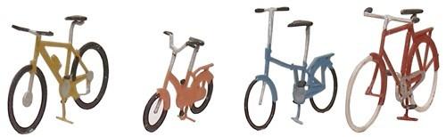 Fahrräder modern, 1:87, Fertigmodell aus Ätzteilen, lackiert