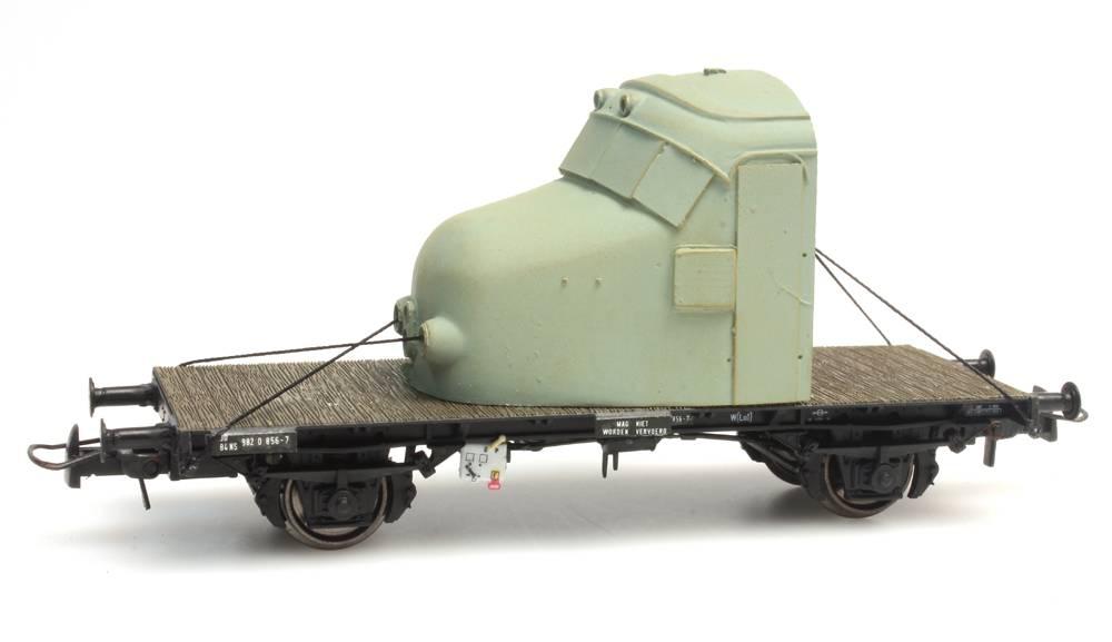 """NS werkwagen NS 30 84 982 0 856-7 met neus """"Hondekop"""""""