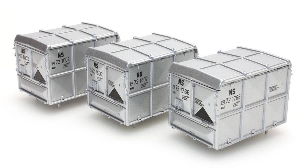 Satz 3 geschlossene Containers 'NS'