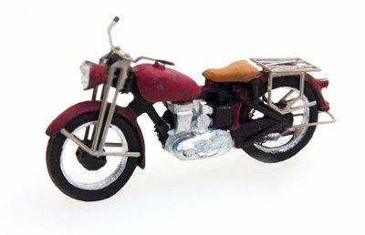 Motorrad Triumph zivil, rot, 1:87 Fertigmodell aus Resin, lackiert